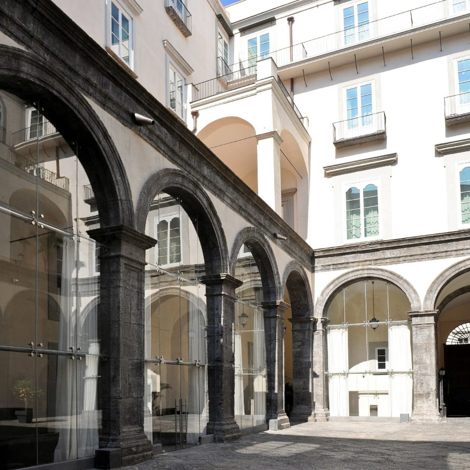 Architecture Buildings Exterior Modern Resort building arcade arch place of worship synagogue old stone colonnade
