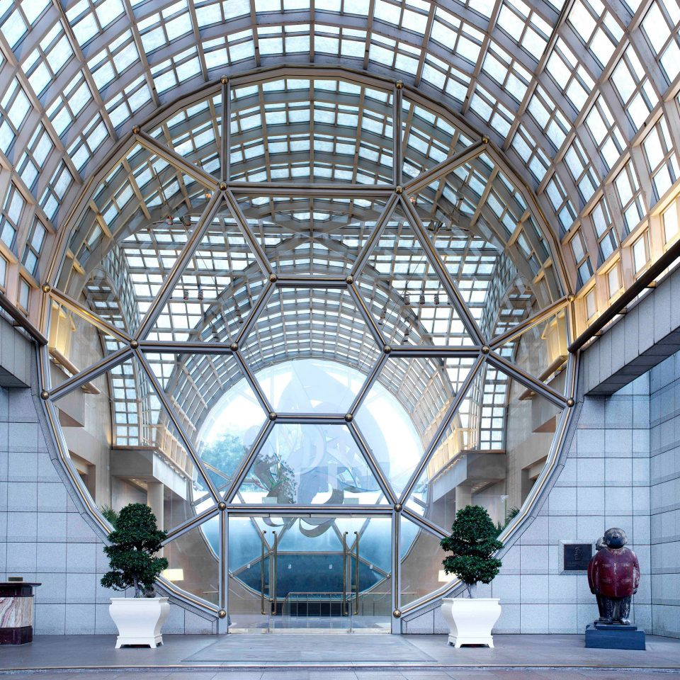 Architecture Buildings Exterior Modern building structure dome daylighting station outdoor structure platform symmetry arch metal headquarters roof pavilion court
