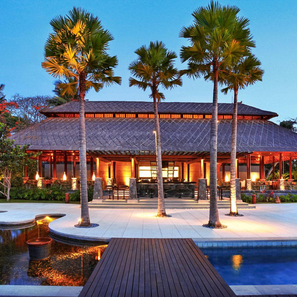 Architecture Buildings Exterior Nightlife Pool Resort sky tree leisure plaza swimming pool home park amusement park palace