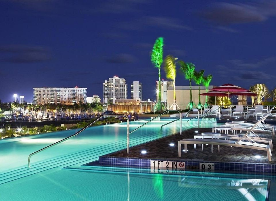 Architecture Buildings Exterior Play Pool Resort Scenic views water marina landmark cityscape dock swimming pool skyline condominium sport venue skyscraper stadium