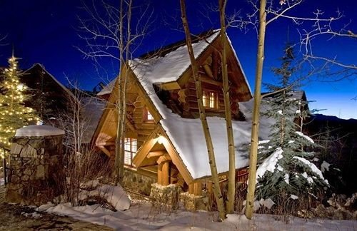 Architecture Buildings Exterior tree snow hut Resort building geological phenomenon house Winter christmas decoration home Village log cabin cottage