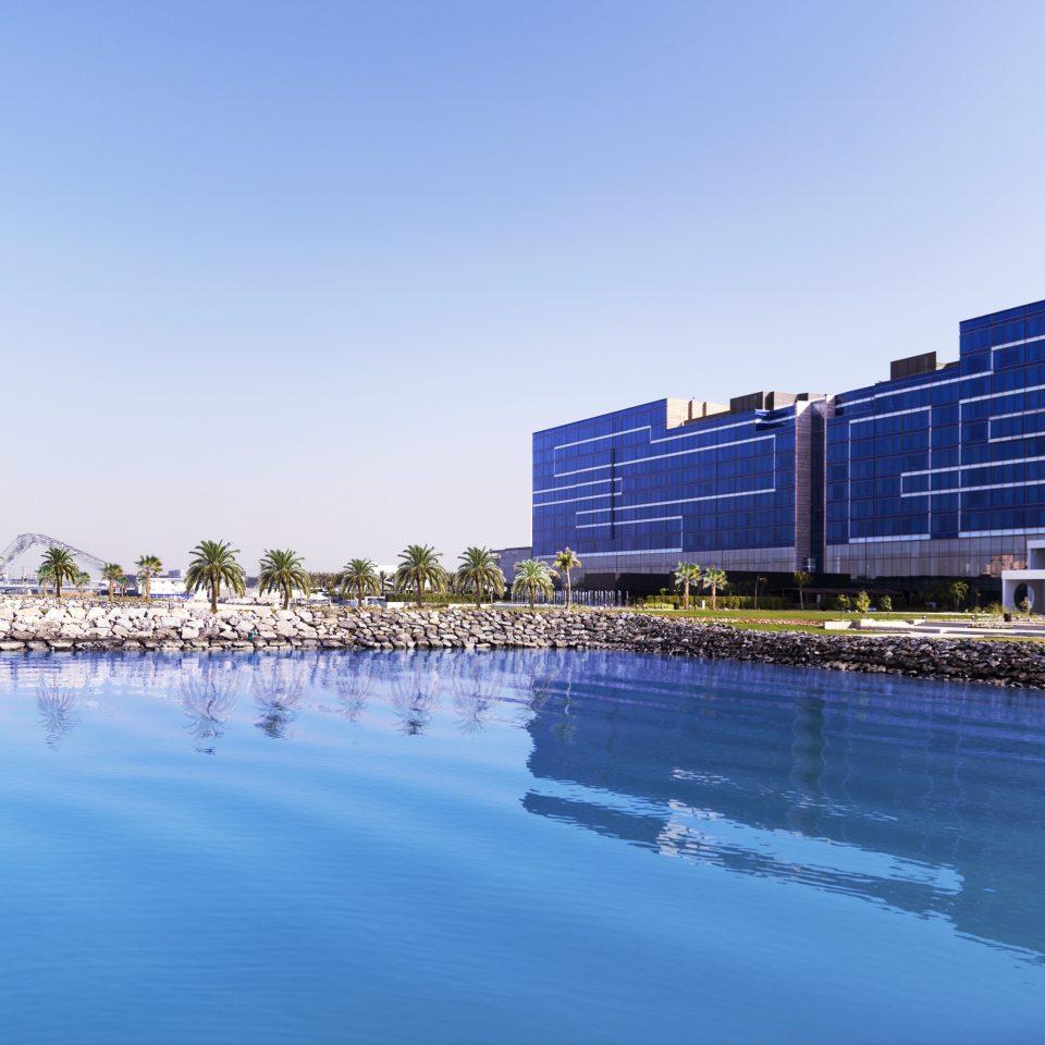 Architecture Buildings Exterior Waterfront water sky scene dock Sea swimming pool marina swimming shore