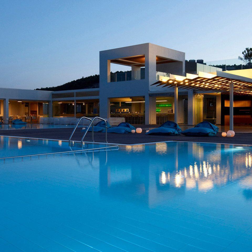 Architecture Buildings Nightlife Play Pool Resort Scenic views sky swimming pool leisure property blue house resort town home Villa condominium