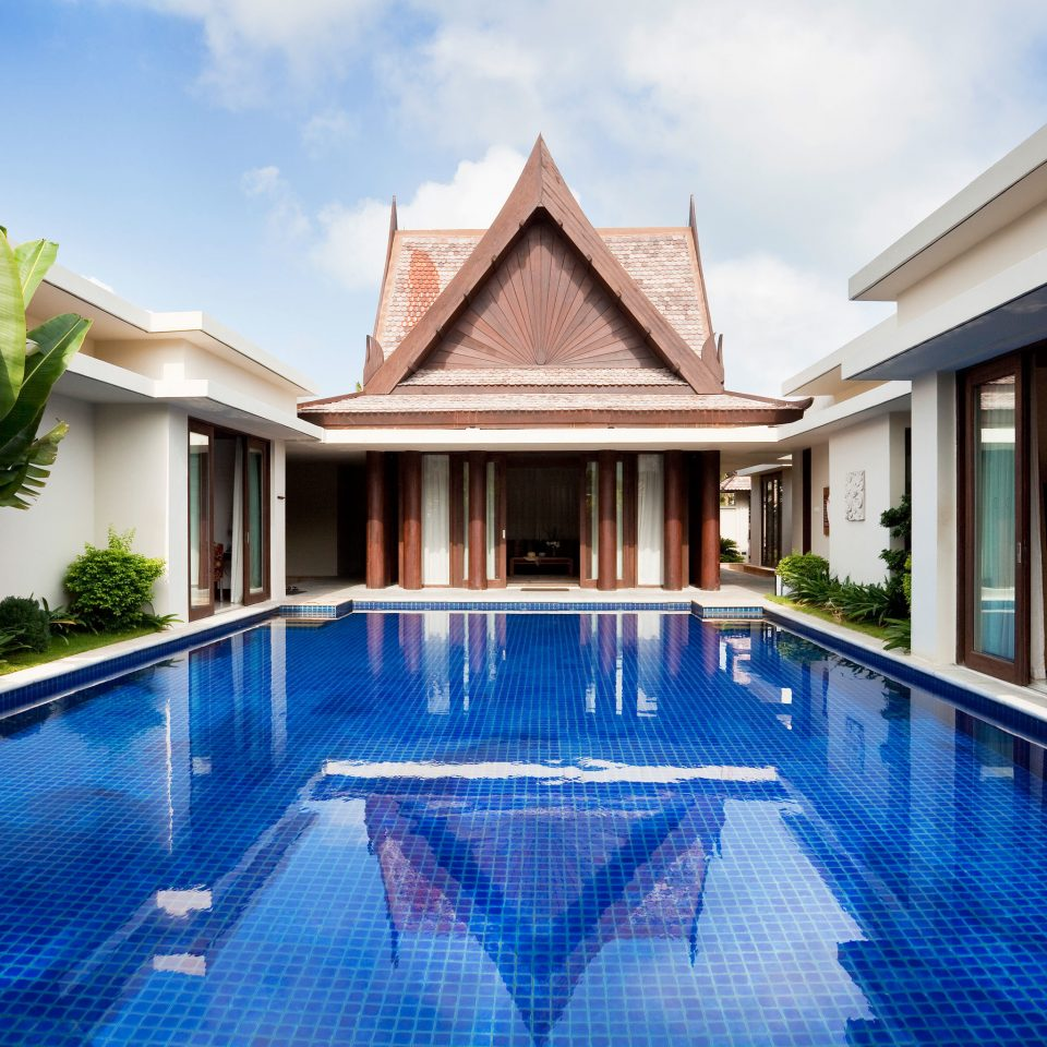 Architecture Buildings Play Pool Resort Scenic views sky building swimming pool property house leisure home condominium Villa mansion backyard empty
