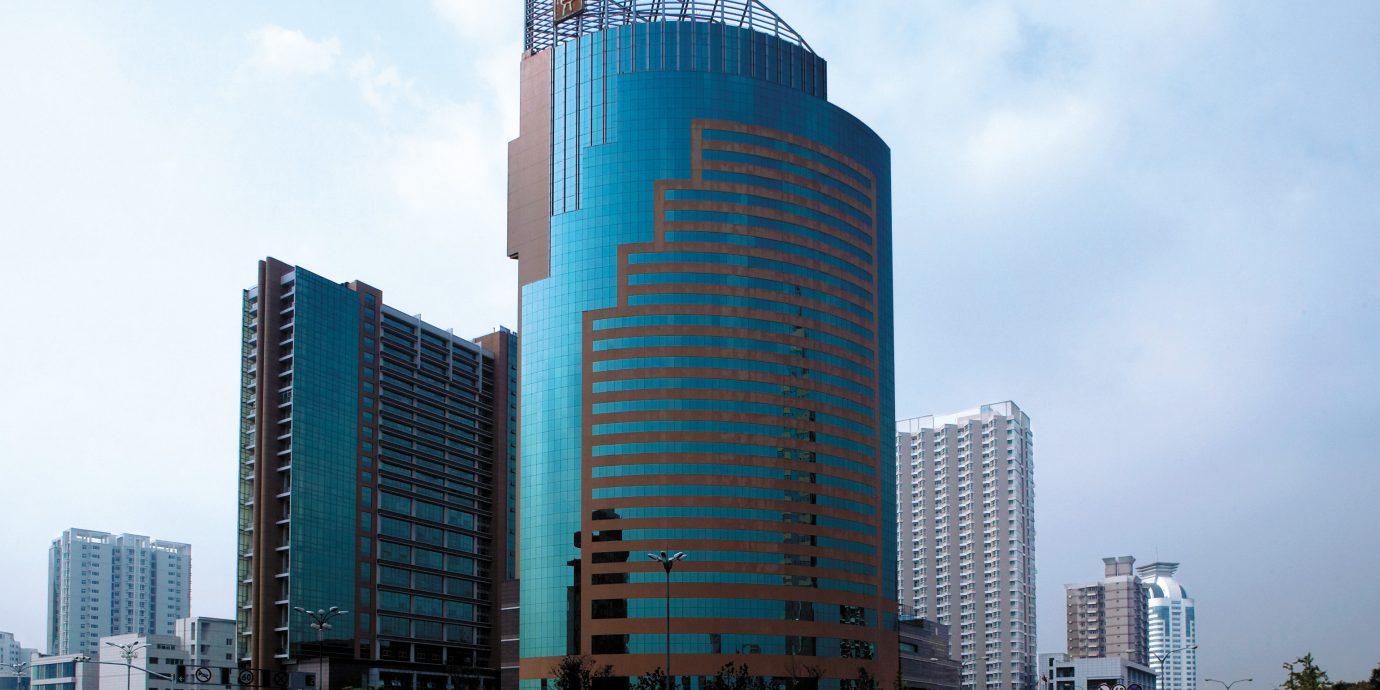 Business City Exterior Modern sky metropolitan area tower block building skyscraper landmark metropolis skyline Downtown Architecture cityscape tower headquarters tall day