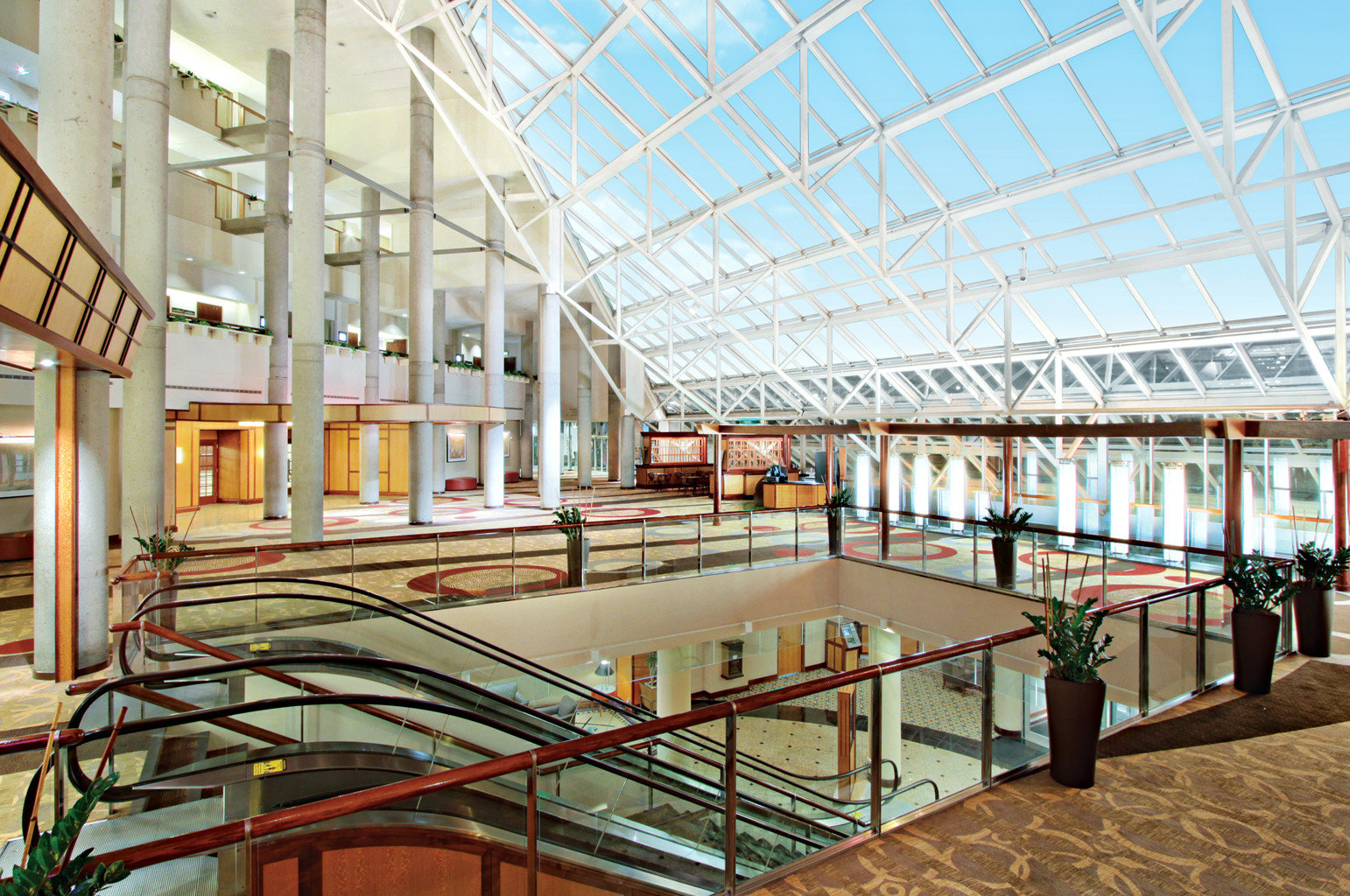 Business Modern building metal Architecture plaza public library shopping mall headquarters convention center