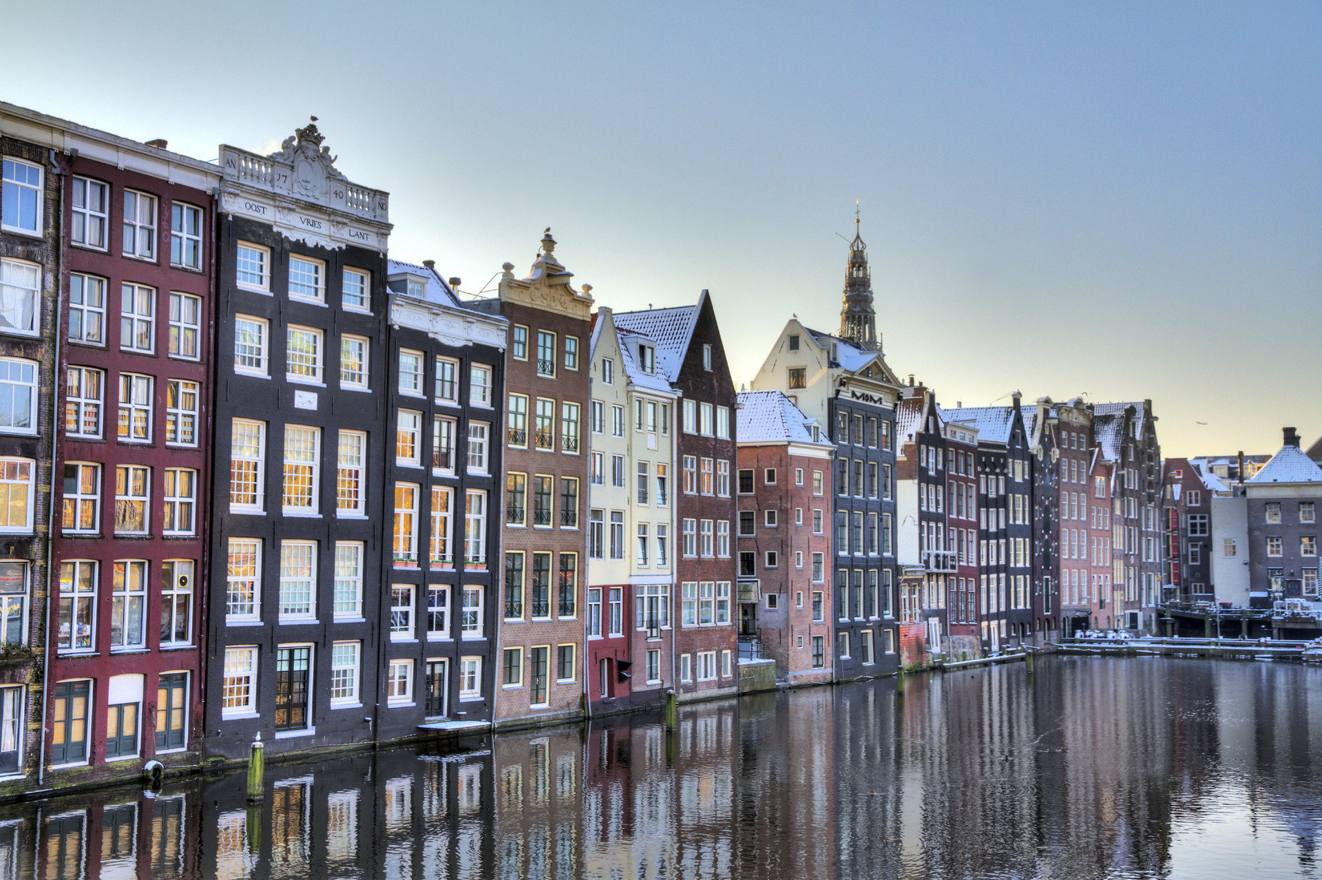Canal waterway Town cityscape City neighbourhood scene Architecture tower block Downtown apartment building