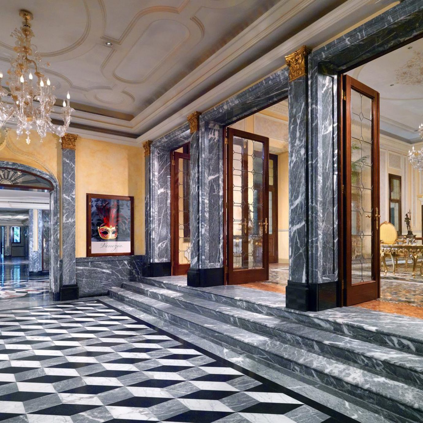 City Classic Historic Lobby Waterfront property mansion Architecture home palace flooring living room hall Courtyard chapel way stone
