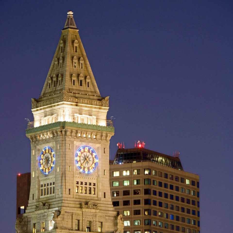 City Cultural Outdoor Activities Outdoors building landmark night tower metropolis Architecture clock tower cityscape skyscraper Downtown evening government building tall
