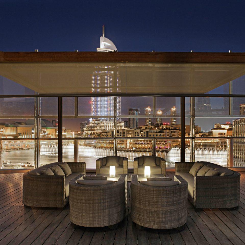 City Deck Drink Modern Rooftop Architecture lighting restaurant