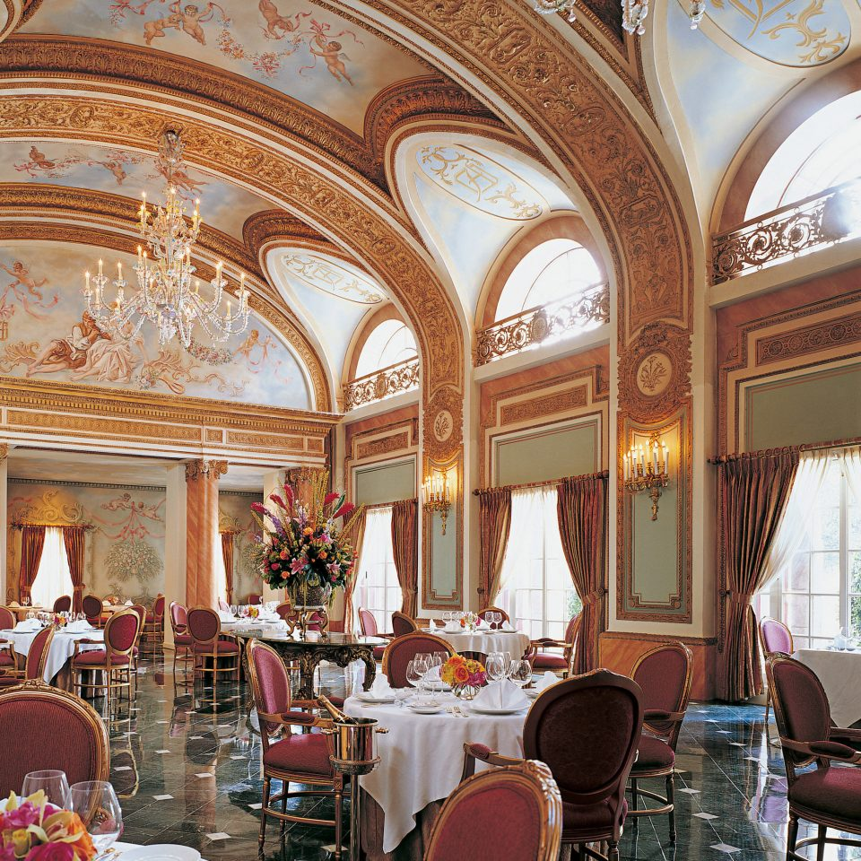 Architecture City Dining Historic restaurant function hall palace ballroom Lobby fancy altar