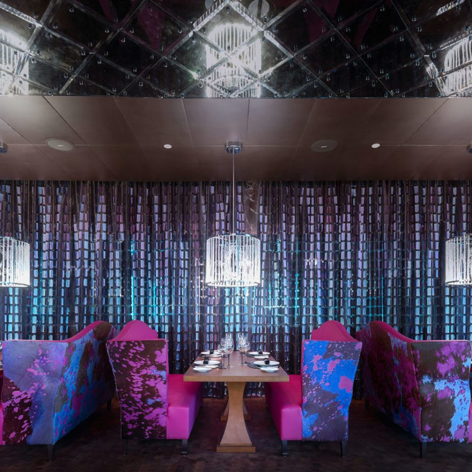 Architecture City Dining Luxury Shop pink stage restaurant function hall purple colored