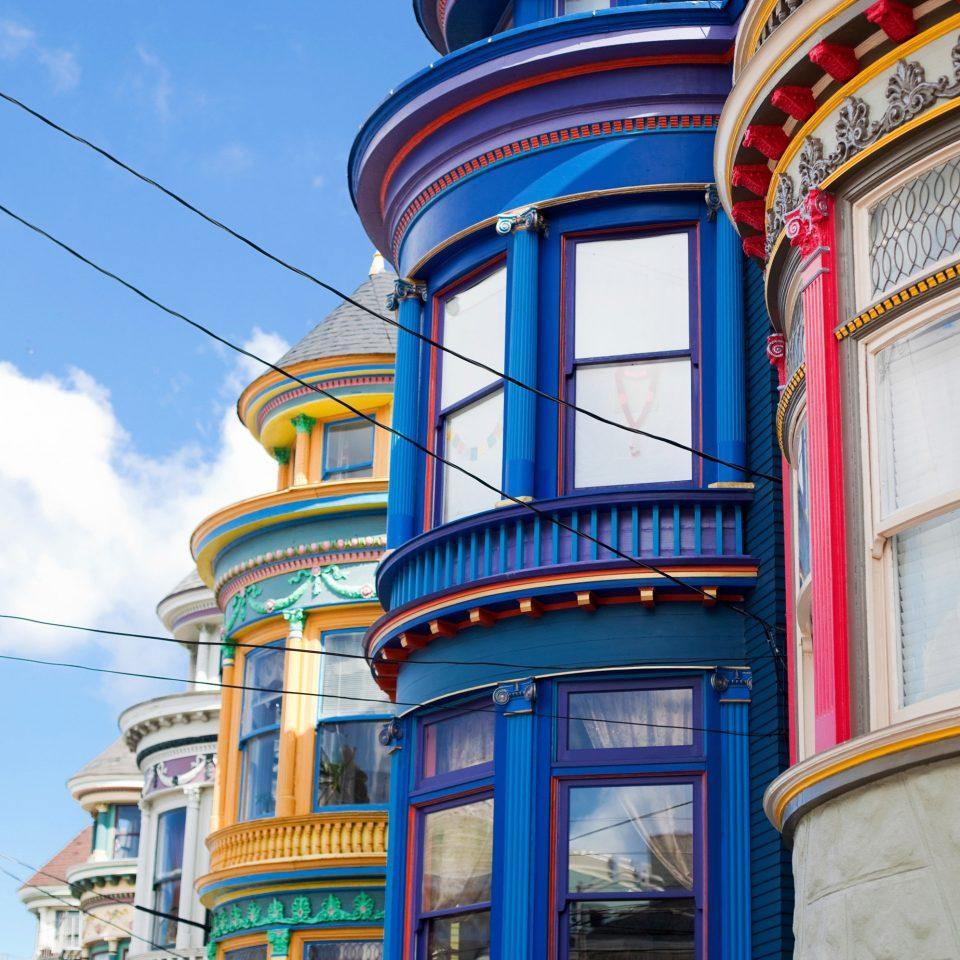 Exterior Family Travel Hip Modern Trip Ideas sky color blue road landmark Town City neighbourhood Architecture street house metropolis transport Downtown cityscape