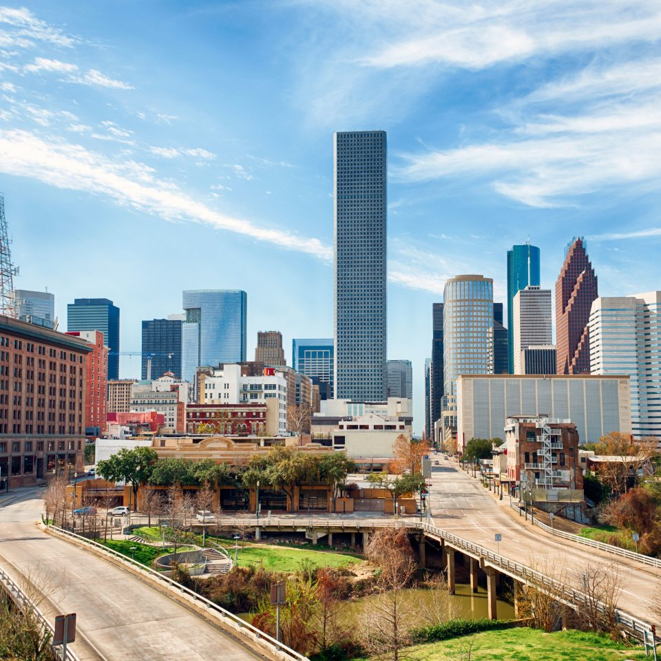 City Houston Outdoors + Adventure Scenic views Texas Trip Ideas sky metropolitan area grass skyline tower block skyscraper cityscape landmark metropolis residential area neighbourhood Downtown horizon Architecture condominium panorama tower