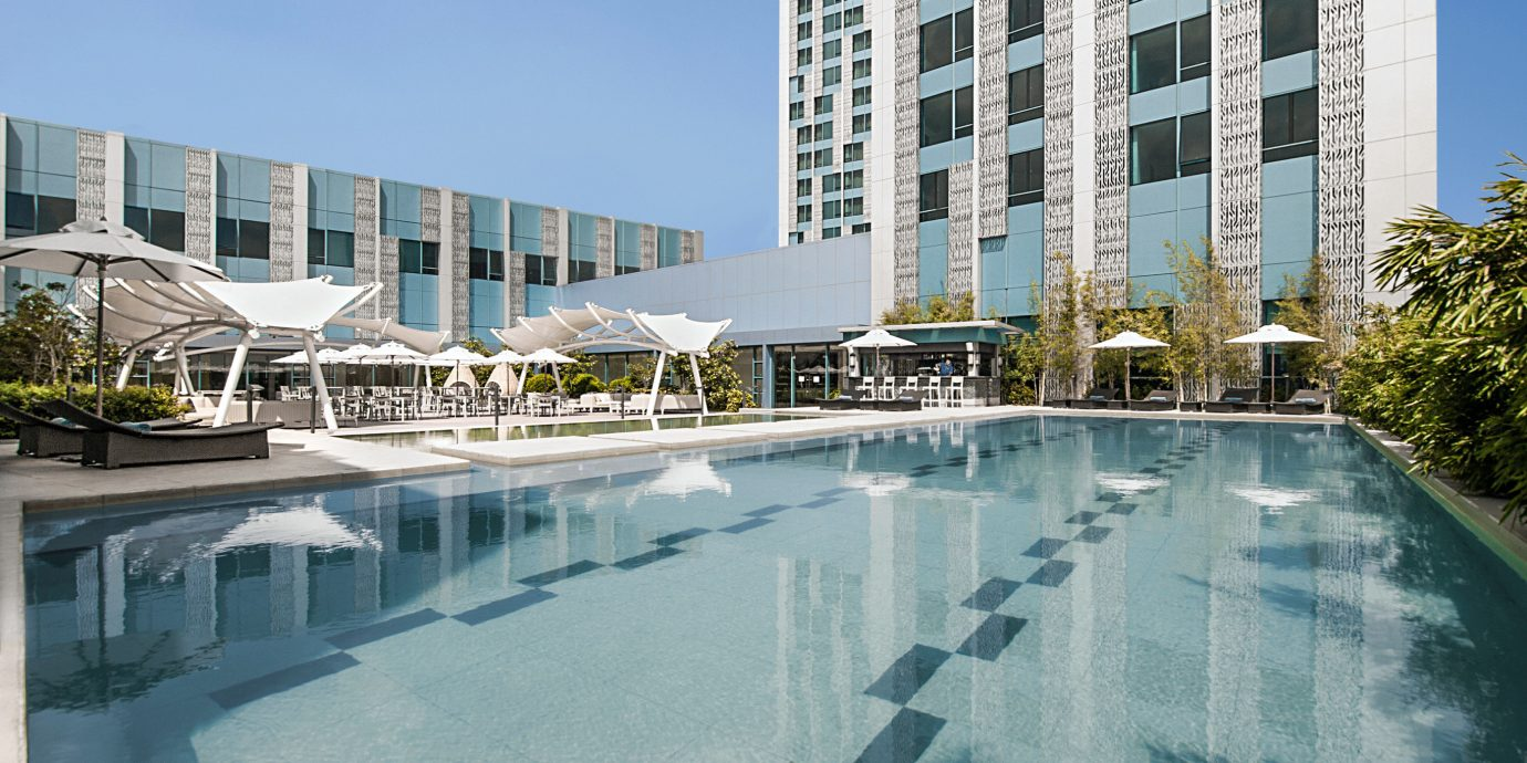 City Outdoors Pool Wellness sky condominium swimming pool property building Architecture plaza reflecting pool tower block Downtown marina dock Resort headquarters apartment building