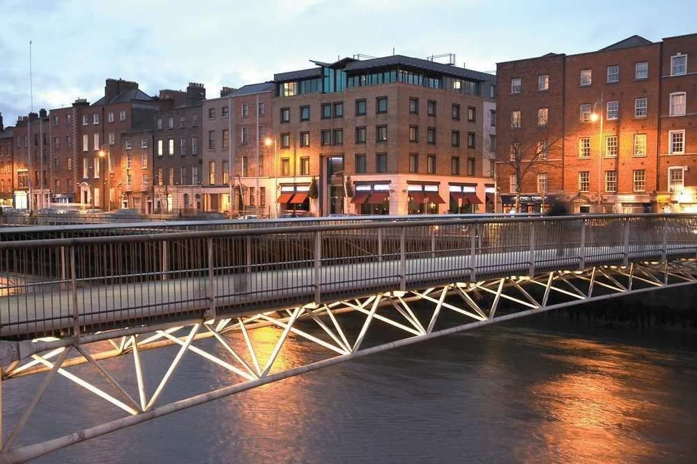 sky water bridge City River night scene cityscape Architecture evening Downtown waterway long traveling subway