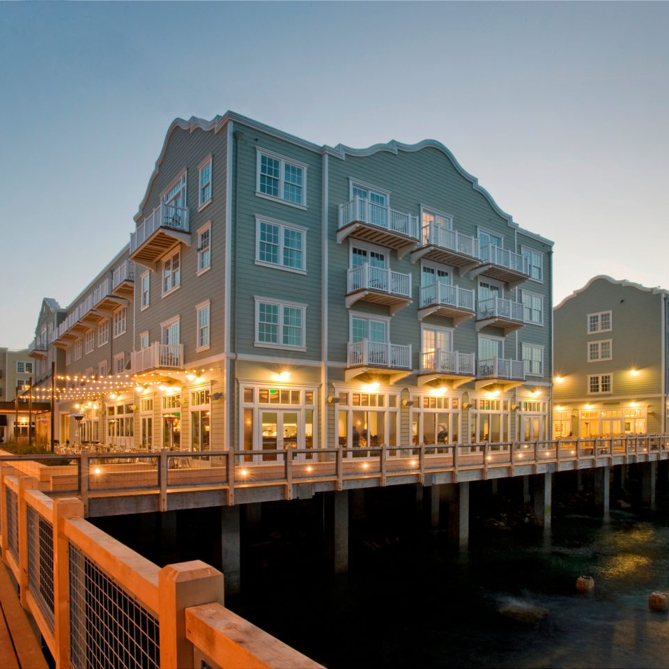 sky scene landmark Town City cityscape night Architecture Downtown evening dock marina boardwalk waterway