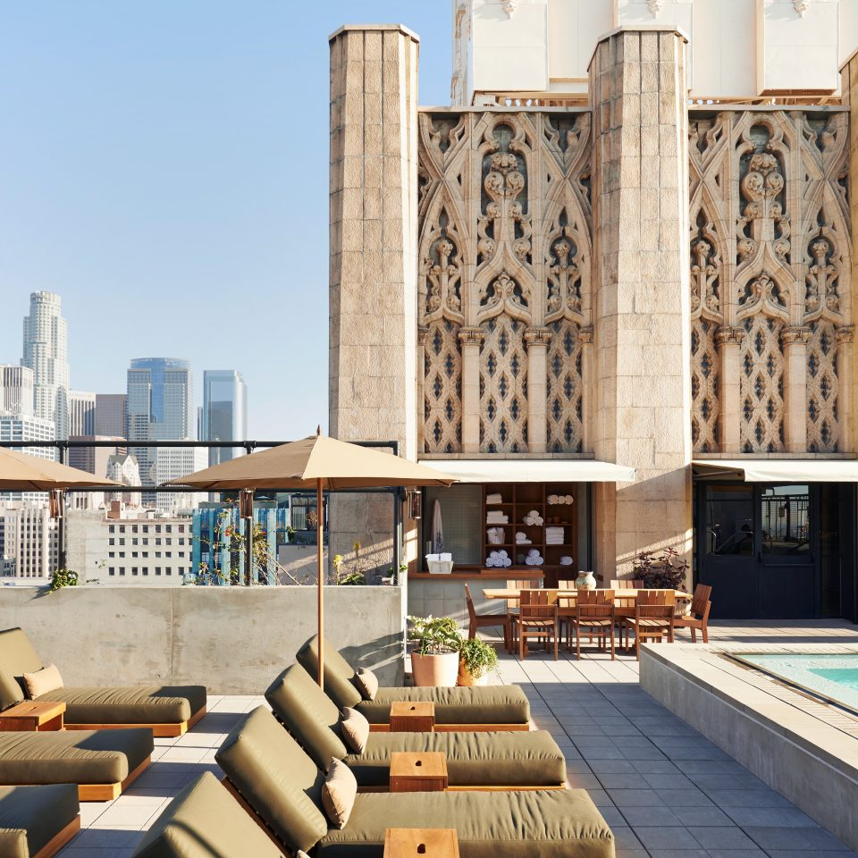 City Elegant Hip Hotels Lounge Modern Outdoors Patio Pool Rooftop landmark Architecture cathedral place of worship