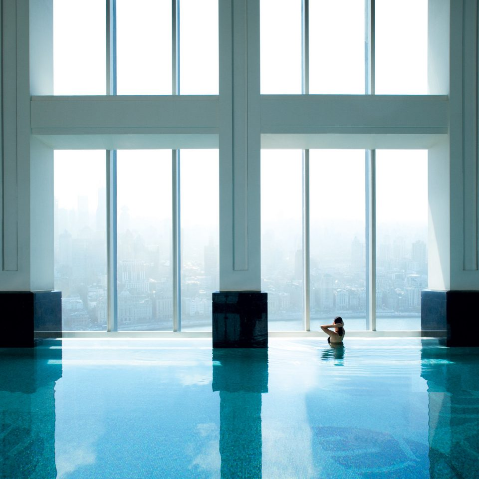 City Elegant Luxury Modern Pool Scenic views water building Architecture glass symmetry