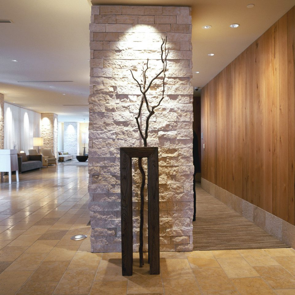 City Hip Lobby Waterfront building Architecture hardwood lighting flooring wood flooring hall living room stone