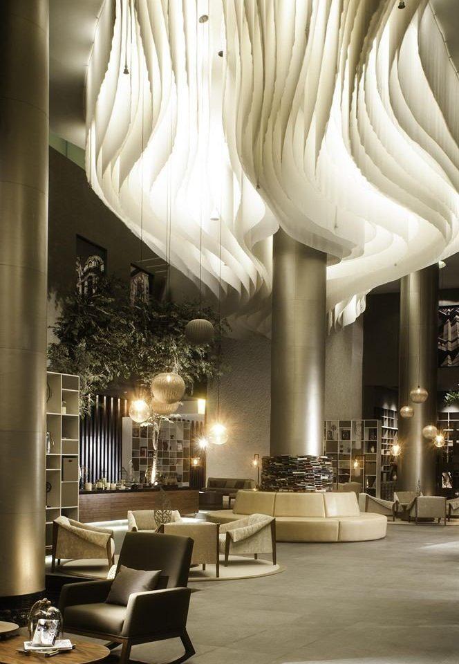 City Lounge white light Lobby Architecture lighting light fixture living room