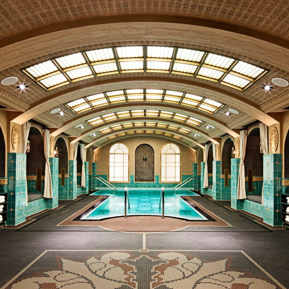 City Play Pool Resort building station Architecture Lobby glass arcade arch aisle library symmetry hall
