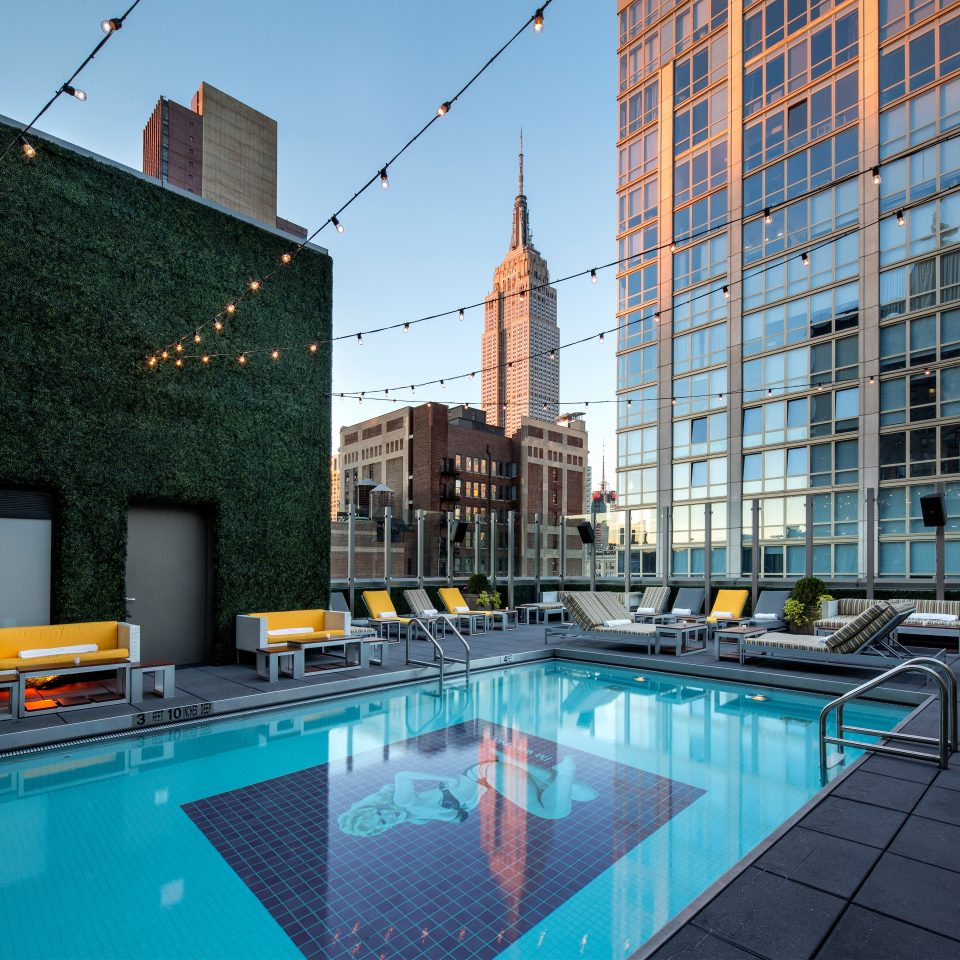 Architecture City Pool Rooftop Scenic views swimming pool leisure property building condominium