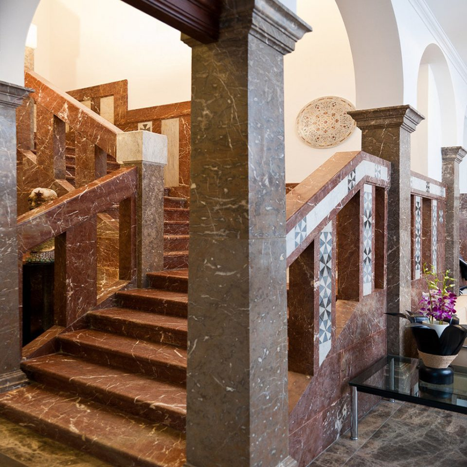 Classic Lobby building Architecture house arch stair stairs Courtyard ancient history chapel hacienda mansion place of worship column synagogue step stone set