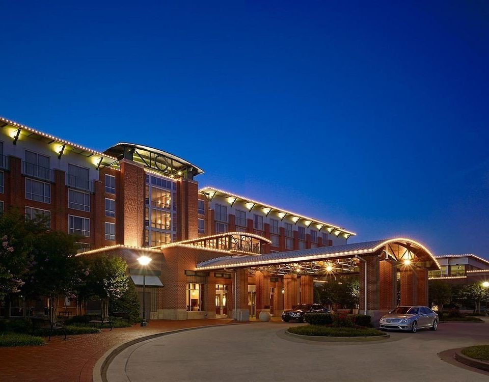 Classic Exterior sky building landmark night Architecture Downtown plaza evening Resort cityscape shopping mall road