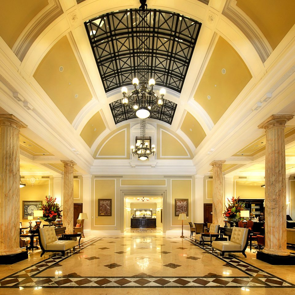Classic Family Lobby Lounge Resort building Architecture lighting shopping mall hall convention center ballroom mansion colonnade