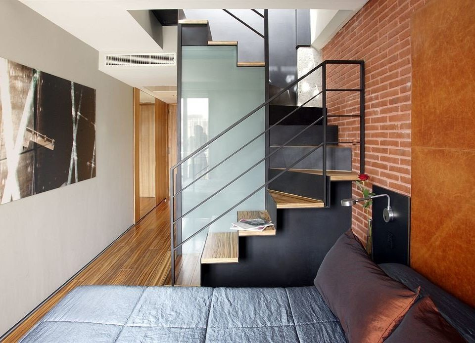 property house Architecture living room home hardwood loft daylighting condominium professional flooring stairs