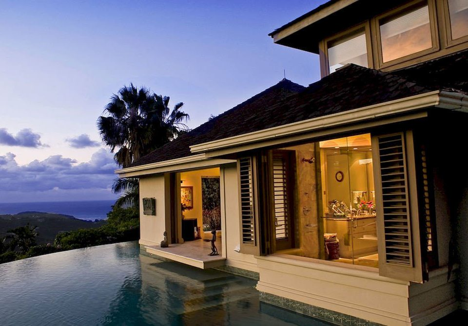 Country Luxury Pool Villa sky house property building home Architecture condominium Resort mansion