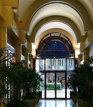 property building Architecture home daylighting yellow mansion plaza Courtyard