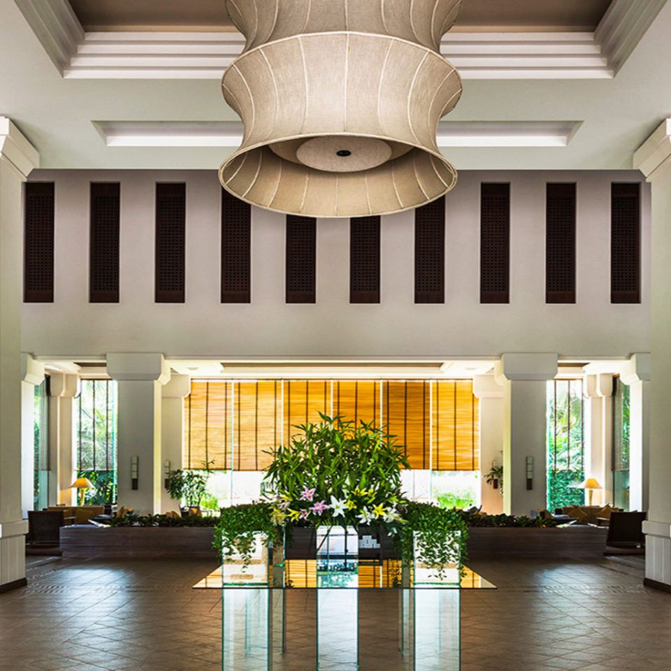 Lobby property building home Architecture condominium mansion living room Courtyard palace hall Resort Dining Villa