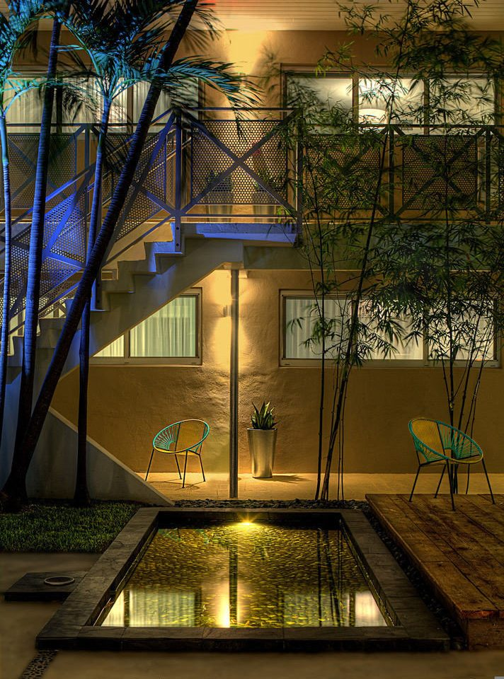 light house night Architecture lighting evening home Courtyard mansion