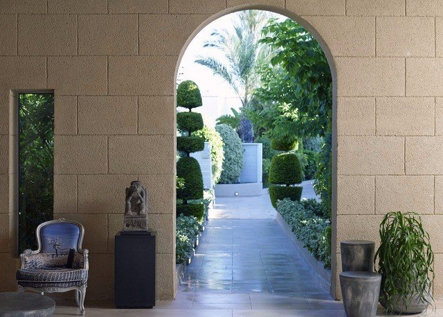 property arch building Architecture Courtyard home hacienda Garden landscaping