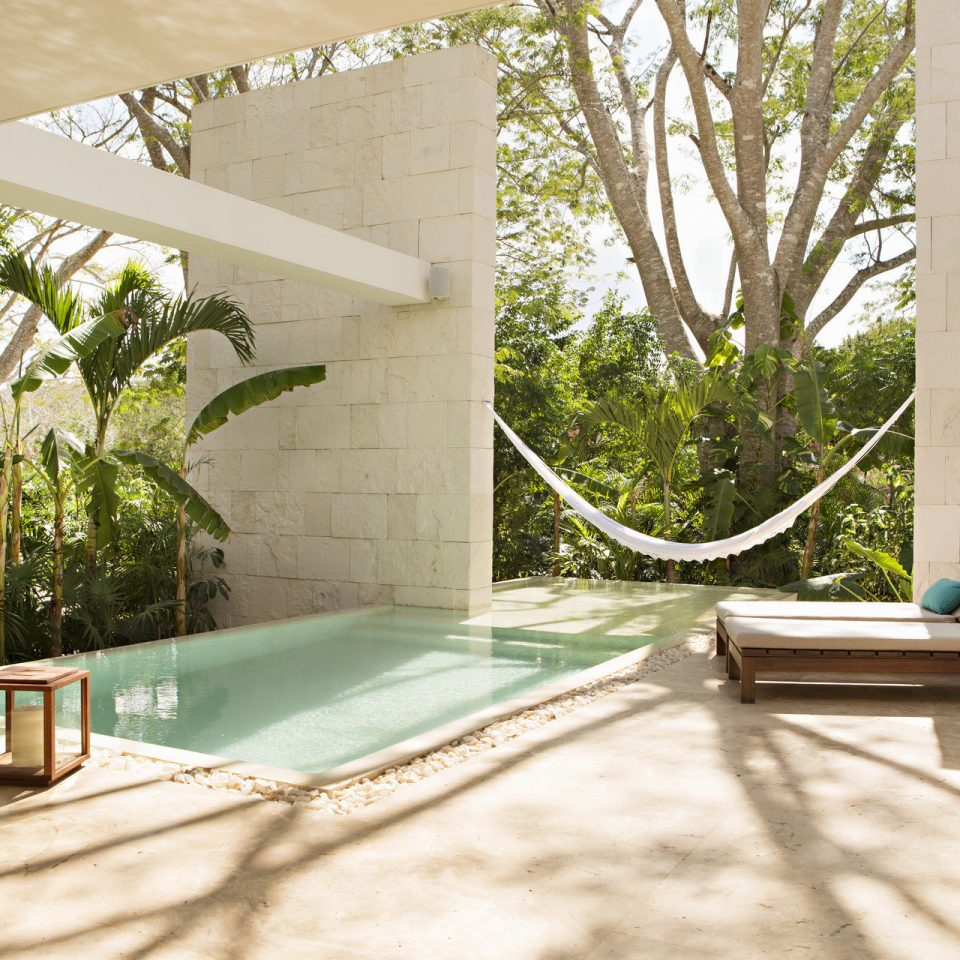 tree house Architecture Courtyard home swimming pool backyard Villa Garden stone