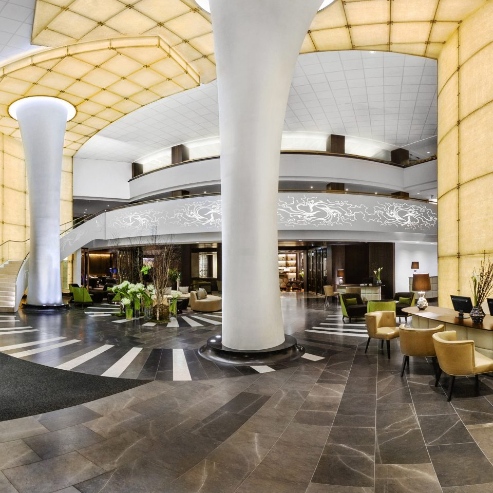 Hip Lobby Luxury Modern building plaza Architecture Courtyard palace headquarters