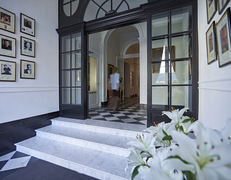 white property house Architecture home mansion plant Courtyard