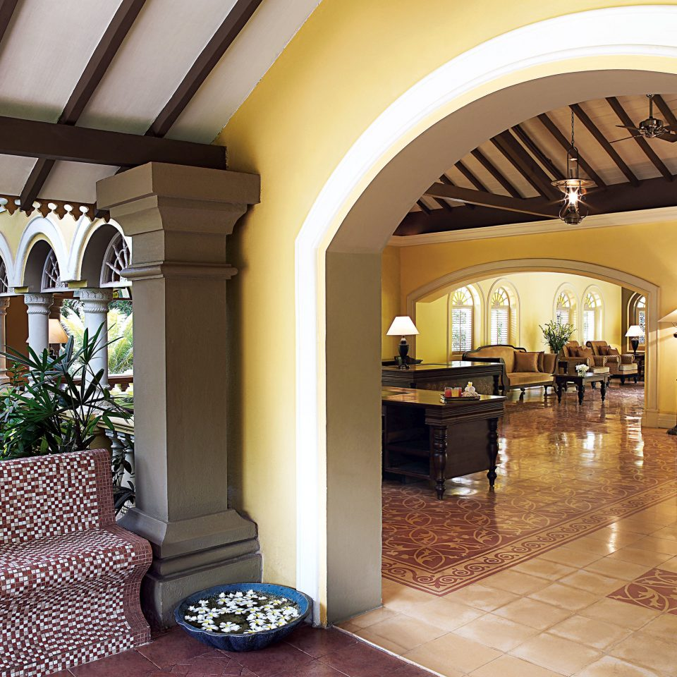 Lobby property building Architecture home mansion Courtyard arch hacienda