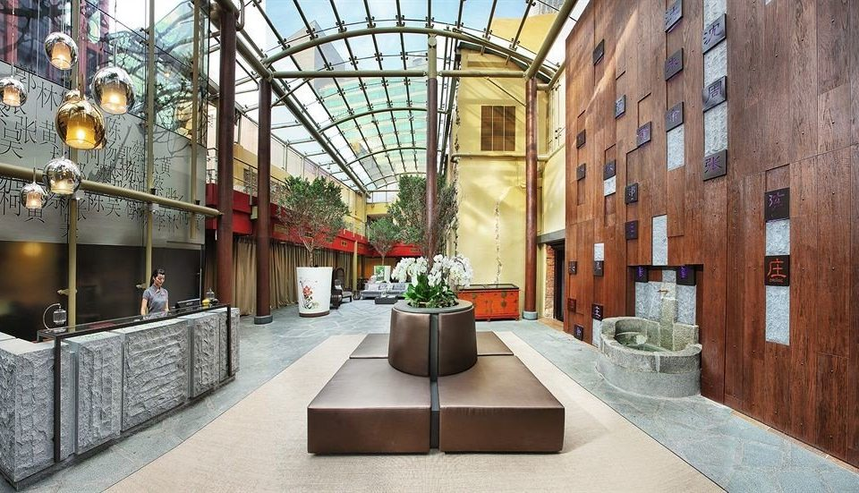 Lobby building Architecture Courtyard tourist attraction stone