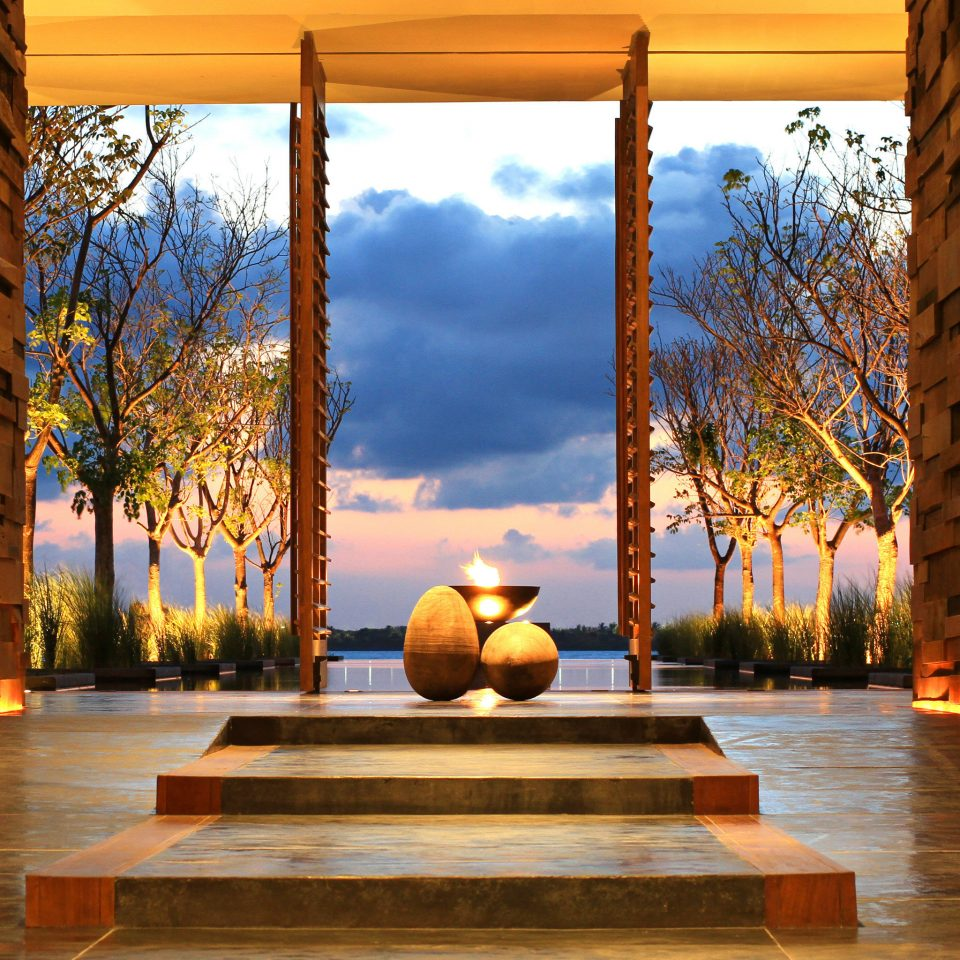 Lobby Luxury Modern Romance light Architecture house sunlight lighting home evening Courtyard autumn landscape lighting
