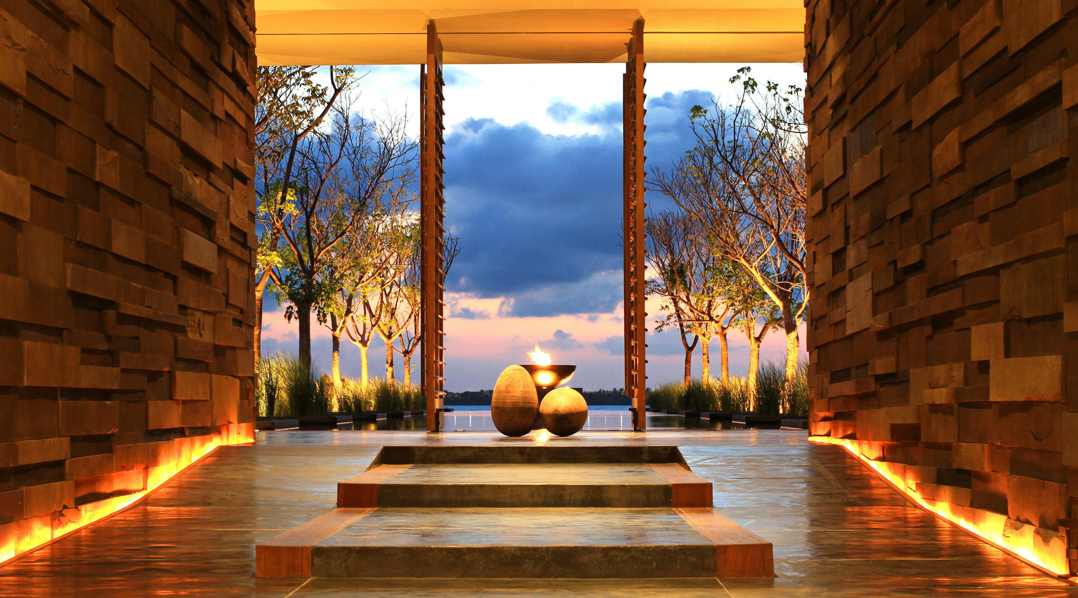 Lobby Luxury Modern Romance light Architecture house sunlight lighting home evening Courtyard autumn landscape lighting