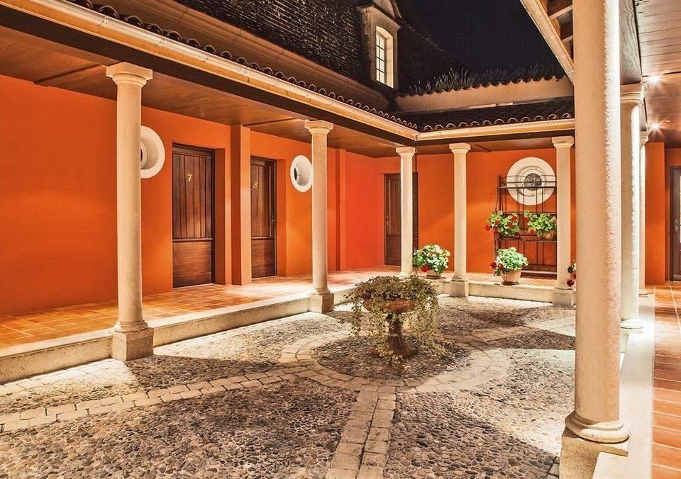 ground property building house home Architecture Courtyard hacienda Lobby mansion porch Villa colonnade