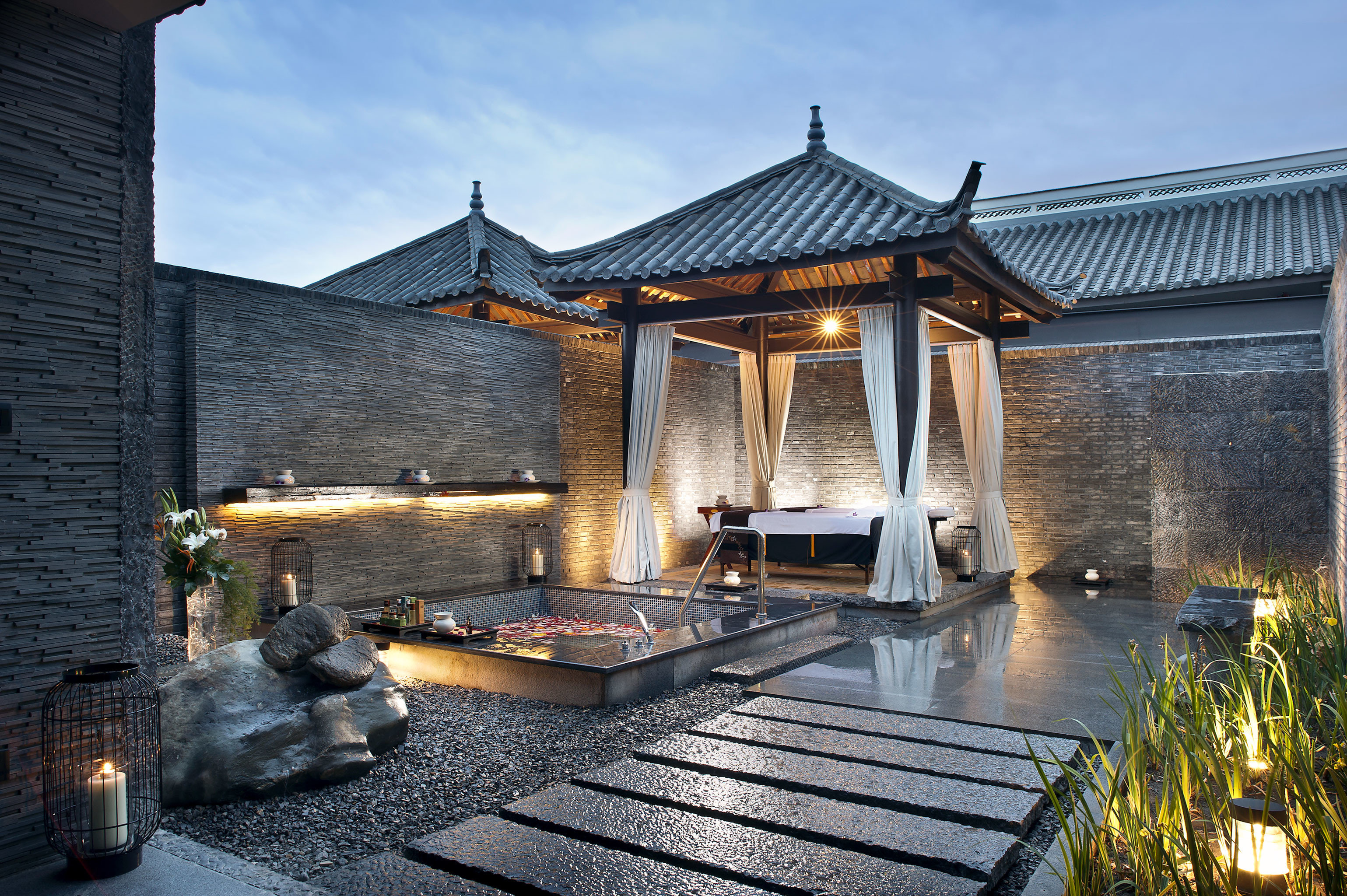 Architecture Resort Spa Wellness sky property house building home backyard cottage Villa mansion outdoor structure Courtyard farmhouse stone