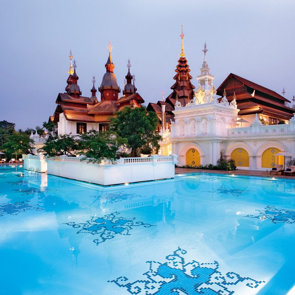 Architecture Cultural Grounds Luxury Pool Resort sky swimming pool leisure building amusement park palace blue place of worship swimming