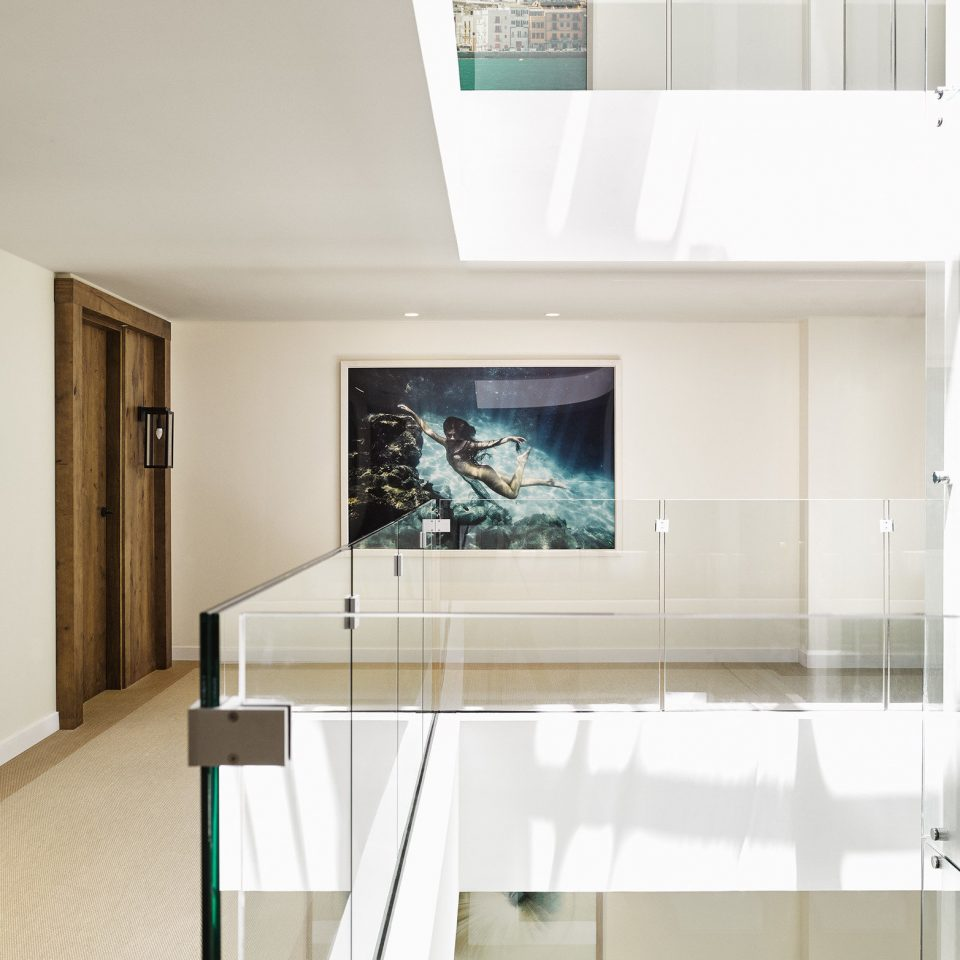Architecture glass house flooring daylighting