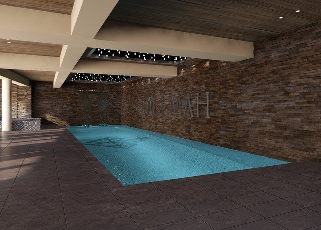 ground swimming pool property flooring Architecture hardwood daylighting wood flooring tile professional tiled