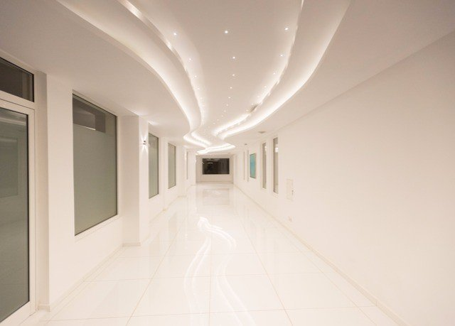 property Architecture daylighting white lighting hall tiled