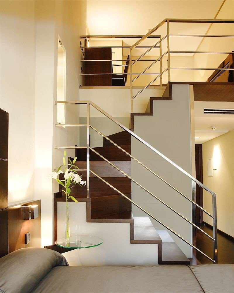 stairs property handrail Architecture hardwood home daylighting loft living room professional